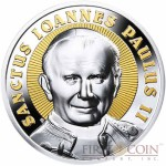 Niue Saint John Paul II $2 Gilded Silver Coin 2014 Proof 2 oz