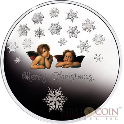Niue Island Merry Christmas $1 Silver Coin Colored Latent Image 2015 Proof