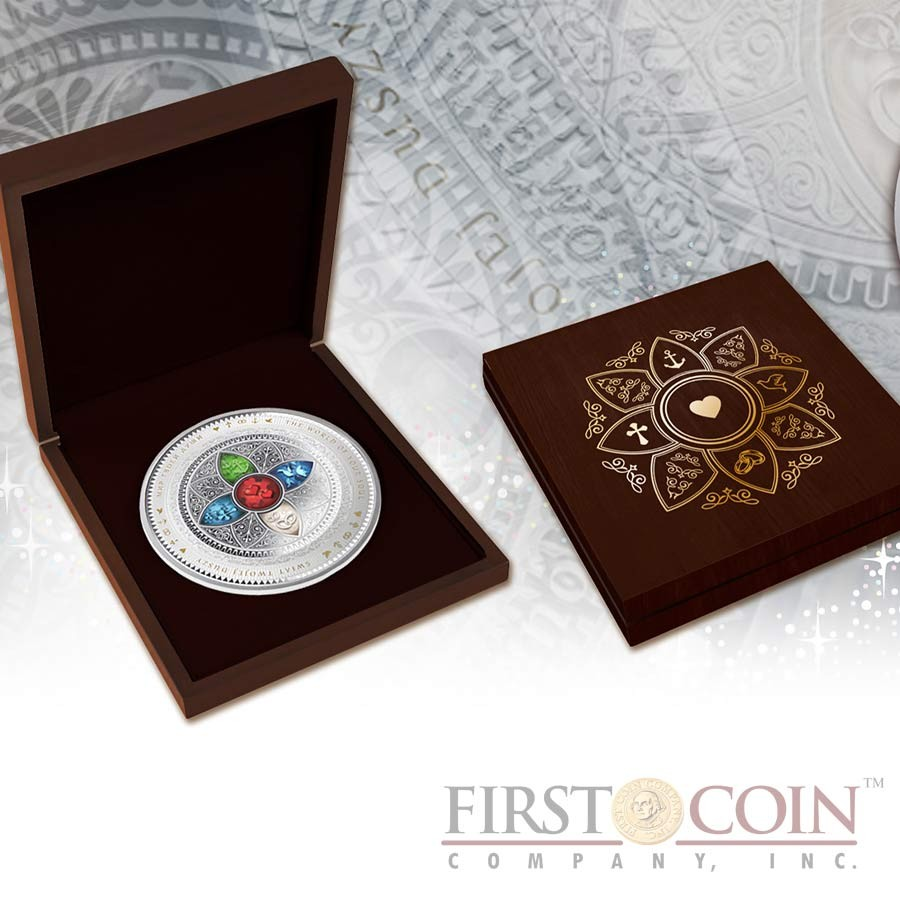 Niue Island WORLD OF YOUR SOUL series Big Silver Edition Gilded Silver Coin $25 Colored 2015 Proof 8 oz (250 g)