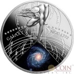 Niue Island SPIRAL GALAXY NGC 1232 $1 The Most Beautiful Galaxies Series Silver coin Colored 2015 Proof