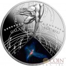 Niue Island THE TINKER BELL TRIPLET $1 The Most Beautiful Galaxies Series Silver coin Colored 2015 Proof