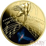 Niue Island THE TINKER BELL TRIPLET $0.50  The Most Beautiful Galaxies Series Gilded Colored Brass coin 2015 Proof