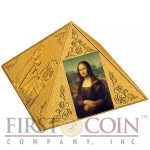 Niue Island TEMPLE OF ART Masterpiece of Mint Art $100 Gold coin Pyramid Shaped High Relief 2016 Proof 1.5 oz