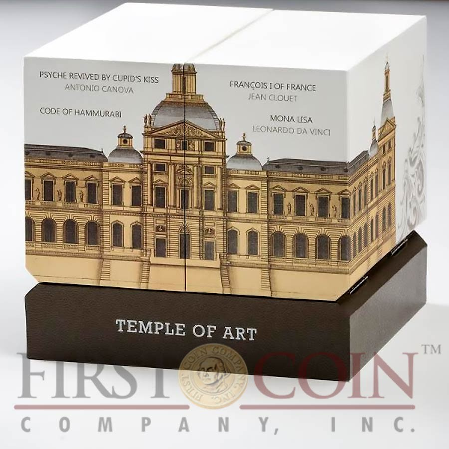 Niue Island TEMPLE OF ART Masterpiece of Mint Art $15 Silver coin Pyramid Shaped High Relief 2016 Proof 3 oz