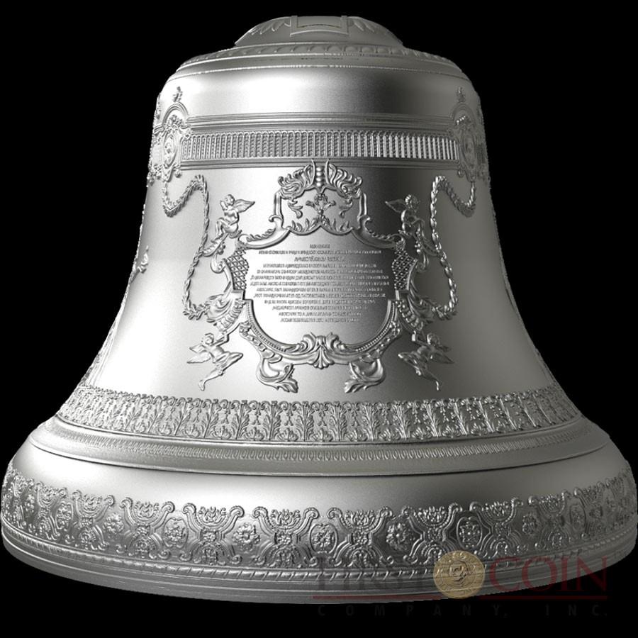 Niue Island Tsar Bell 3d Kolokol 10 Silver Coin 2017 Bell