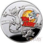 Niue Tom & Jerry $1 Silver Coin Cartoon Characters series Colored 2013 Proof