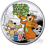 Niue Yogi Bear $1 Silver Coin Cartoon Characters series Colored 2014 Proof