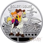 Niue Bolek and Lolek $1 Silver Coin Cartoon Characters series Colored 2011 Proof
