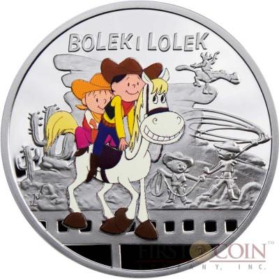 Niue Bolek and Lolek $1 Silver Coin Cartoon Characters series Colored 2011 Proof