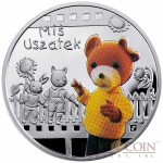 Niue Miś Uszatek (Teddy Floppy Ears) $1 Silver Coin Cartoon Characters series Colored 2010 Proof