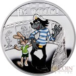 Niue Island NU POGODI! $1 Silver Coin Cartoon Characters series Colored 2010 Proof