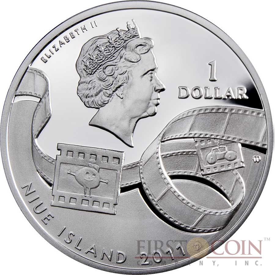 Niue Reksio $1 Silver Coin Cartoon Characters series Colored 2011 Proof