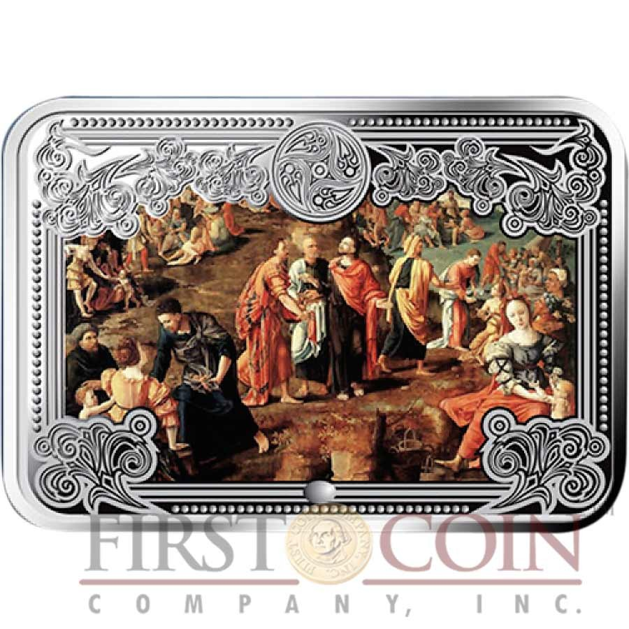 Andorra The Wonders of Jesus Christ 40 Diners Eight Colored Silver Rectangular coin set ~ 4 oz Proof 2012/13