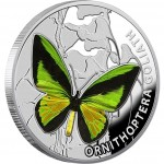 Niue Island THE GOLIATH BIRDWING series BUTTERFLIES $1 Silver Coin 2012 Proof