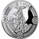 Andorra SAINT CHRISTOPHER Holy Helpers Series Silver Coin 10 Diner 2010 Proof