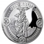 Andorra SAINT CHRISTOPHER Series HOLY HELPERS Silver Coin 10 Diner 2010 Proof