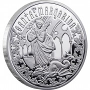 Andorra SAINT MARGARET Series HOLY HELPERS Silver Coin 10 Diner Proof 2011