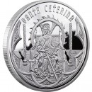 Andorra SAINT CATHERINE Holy Helpers Series Silver Coin 10 Diner 2010 Proof