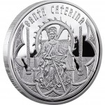Andorra SAINT CATHERINE Series HOLY HELPERS Silver Coin 10 Diner 2010 Proof
