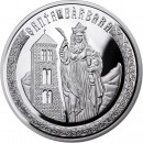 Andorra Saint Barbara Holy Helpers Series Silver Coin 10 Diner 2010 Proof