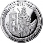 Andorra SAINT BARBARA Series HOLY HELPERS Silver Coin 10 Diner 2010 Proof