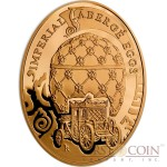 Niue Island Coronation Egg $100 Imperial Faberge Eggs 93.30 g series Gold Coin 2010 Oval Proof 3 oz