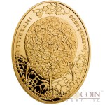 Niue Island Clover Leaf Egg $100 Imperial Faberge Eggs 93.30 g series Gold Coin 2011 Oval Proof 3 oz