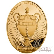 Niue Island Duchess of Marlborough Egg $100 Imperial Faberge Eggs 93.30 g series Gold Coin 2012 Oval Proof 3 oz