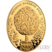 Niue Island Bay Tree Egg $100 Imperial Faberge Eggs 93.30 g series Gold Coin 2012 Oval Proof 3 oz
