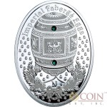 Niue Island Napoleonic Egg $1 Imperial Faberge Eggs 16.81 g series Silver Coin 2012 Oval Shape Proof Swarovski Crystals 0.54 oz
