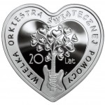 Poland LOVE AND MUSIC 20 YEARS OF THE GREAT ORCHESTRA OF CHRISTMAS CHARITY 10 Złoty Silver Coin 2012