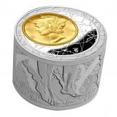 Niue Island Fortuna Redux Mercury Cylinder 6 oz Silver Coin $50 Proof 2013