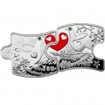 Niue Island YOU AND ME Silver Coin $2 Swarovski crystals 2012 Proof