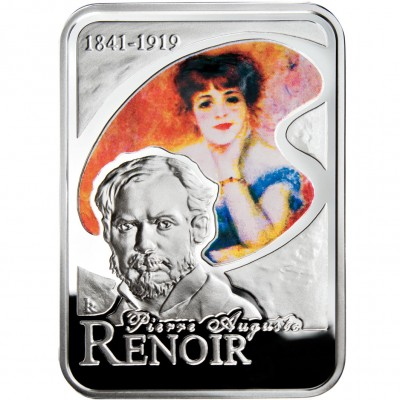 Andorra PIERRE AUGUSTE RENOIR Series PAINTERS OF THE WORLD Silver Coin 10 Diner Proof 2008