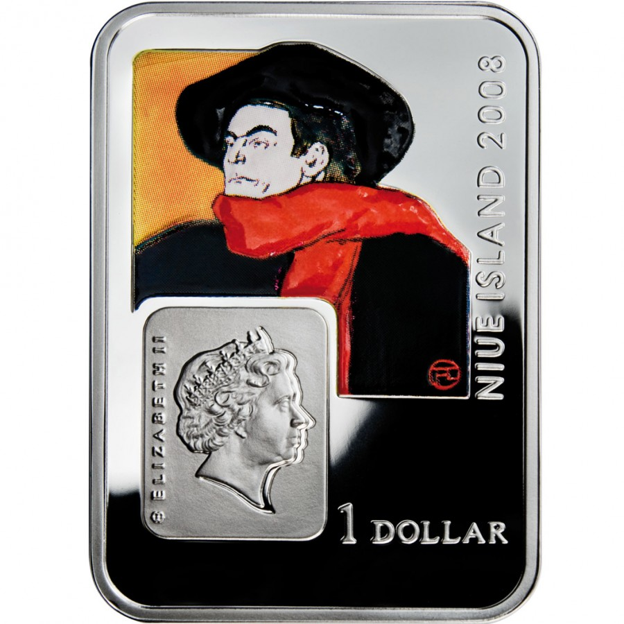 Niue Island HENRY DE TOULOUSE-LAUTREC Series PAINTERS OF THE WORLD $1 Silver Coin 2008 Proof