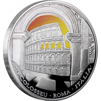 Andorra ROMAN COLOSSEUM Series WONDERS OF THE WORLD 10 Diner Silver Coin 2009