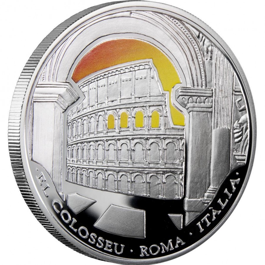Andorra Wonders of the World Series Seven Silver Coin Set 70 Diner 2009 ~ 6.5 oz