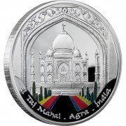 Andorra TAJ MAHAL Series WONDERS OF THE WORLD 10 Diner Silver Coin 2009