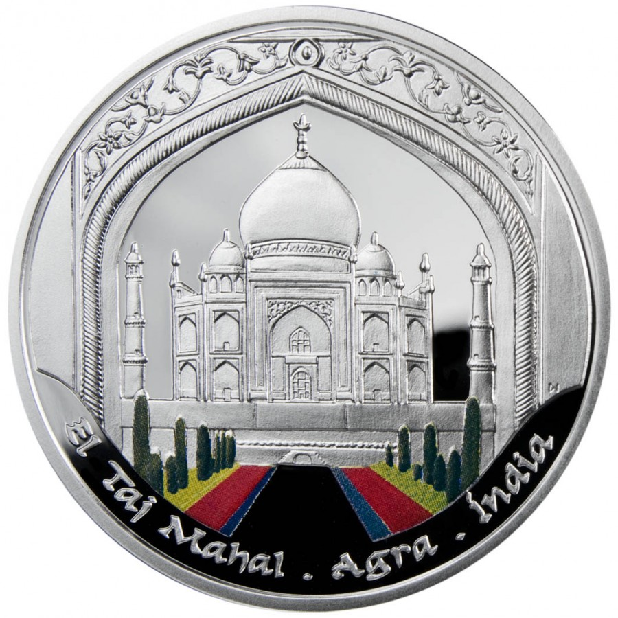 Andorra TAJ MAHAL Series WONDERS OF THE WORLD 10 Diner Silver Coin 2009