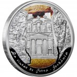 Andorra PETRA series WONDERS OF THE WORLD Silver Coin 10 Diner 2009
