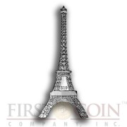British Virgin Islands Eiffel Tower shape coin 125th Anniversary 2014 Silver coin Antique finish 1 oz