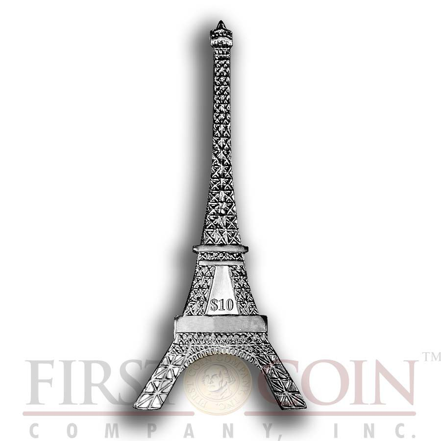 British Virgin Islands Eiffel Tower Shape Coin 125th