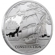 Belarus SHIP USS CONSTITUTION Series SAILING SHIPS 20 Rubles Silver Coin 2010