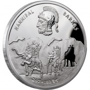 Niue Island HANNIBAL BARKAS series GREAT COMMANDERS $1 Silver Coin 2012 Proof