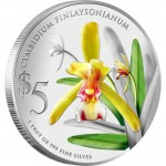 Singapore CYMBIDIUM FINLAYSONIANUM $5 NATIVE ORCHIDS OF SINGAPORE series Silver Coin 2011 Proof 1 oz