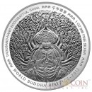 "#777 Serial number Bhutan 1 oz THE COMPASSIONATE ONE – THOUSAND-HAND BODHISATTVA OF CHINA "" World Buddha Heritage"" Series  2013 Silver Coin Proof"