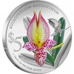 Singapore BULBOPHYLLUM $5 ORCHIDS OF SINGAPORE series Silver Coin 2012 Proof 1 oz
