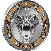 Niue Island SNAKEBITE Lunar Year of the Snake Copper silver plated Coin 2013