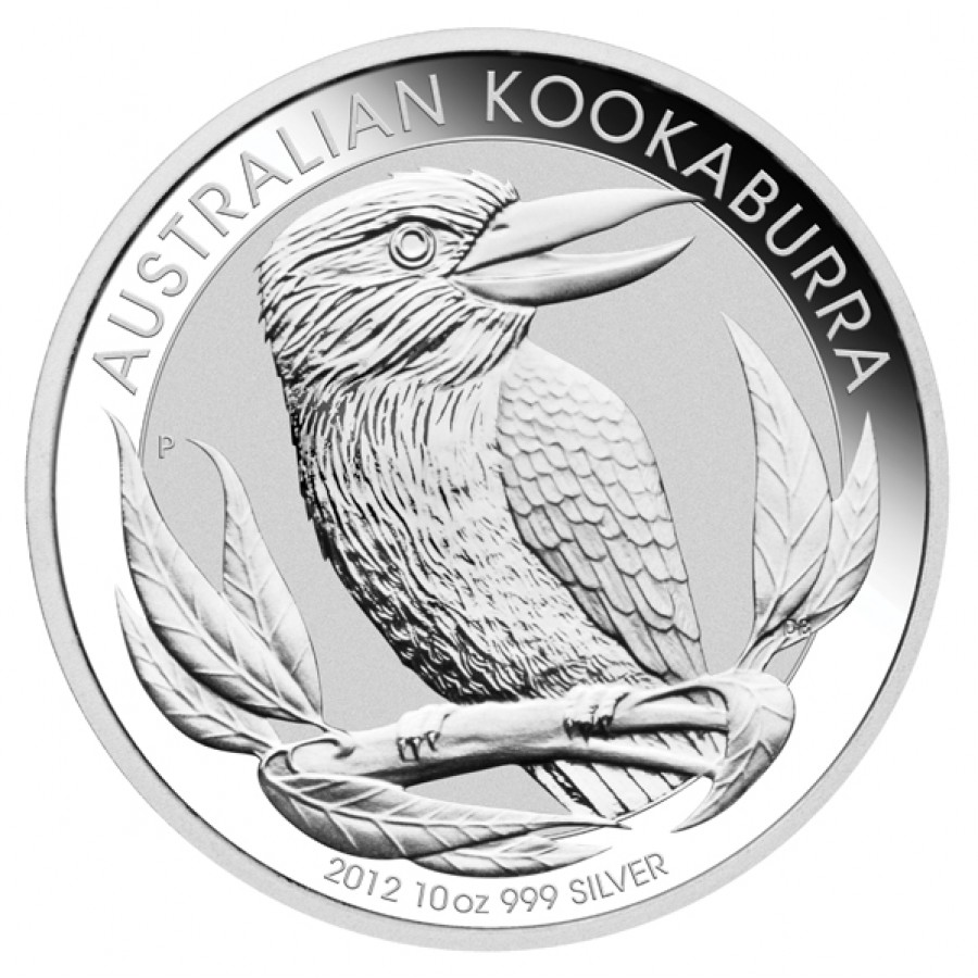 Silver Bullion Coin Australian Kookaburra 2012 10 Oz