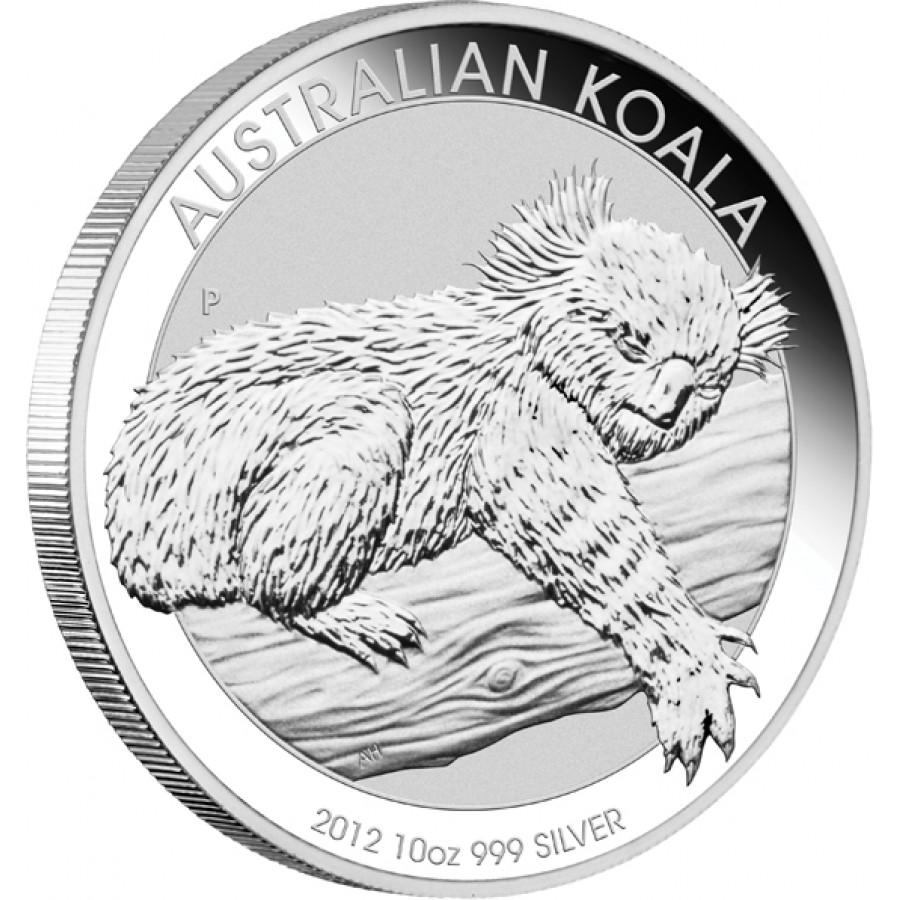 Silver Bullion Coin Australian Koala 2012 10 Oz